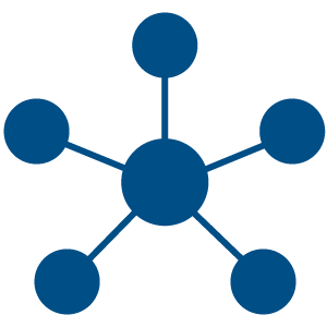Ilustration of a network of different selections