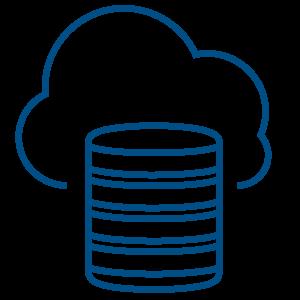 Illustration of a server being backup